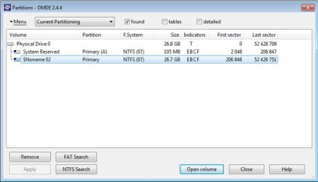 DM Disk Editor free hard disk management software default window