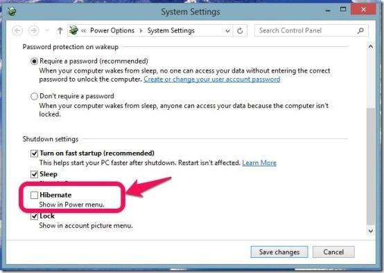Enable Hibernate In Windows 8