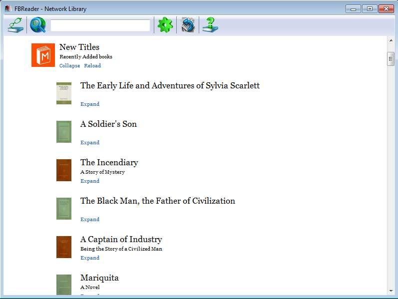 FBReader online catalogs
