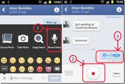 Facebook Messenger Voice messages