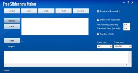 Free Slideshow Maker default window
