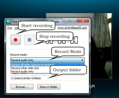 Free Video Call Recorder for Skype recording