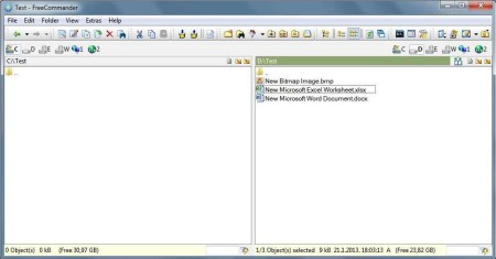 FreeCommander free file manager default window
