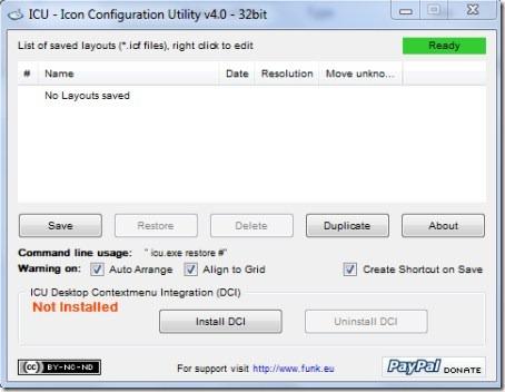 Icon Configuration Utility 001 restore desktop icons