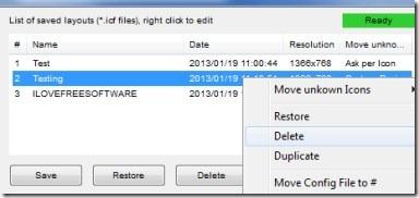 Icon Configuration Utility 003 restore desktop icons