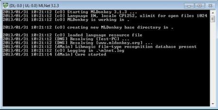 ML Donkey peer-to-peer client default window