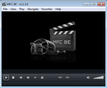 MPC-BE free media player default window