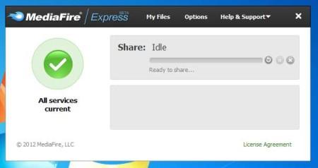 MediaFire Express default window