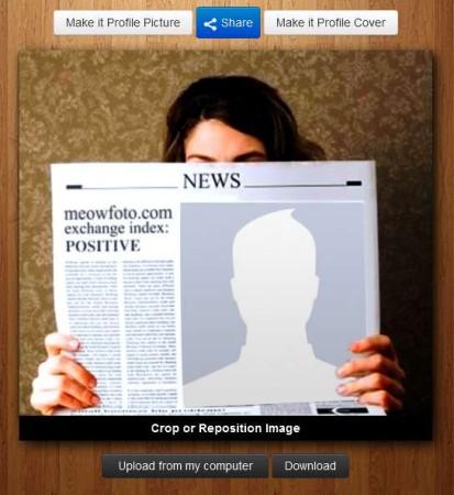 Meowfoto newspaper effect