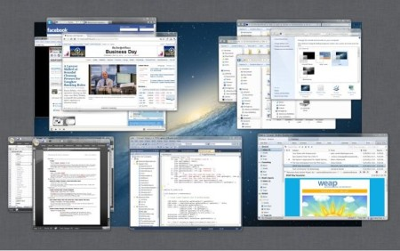 Mission Control to group windows default window