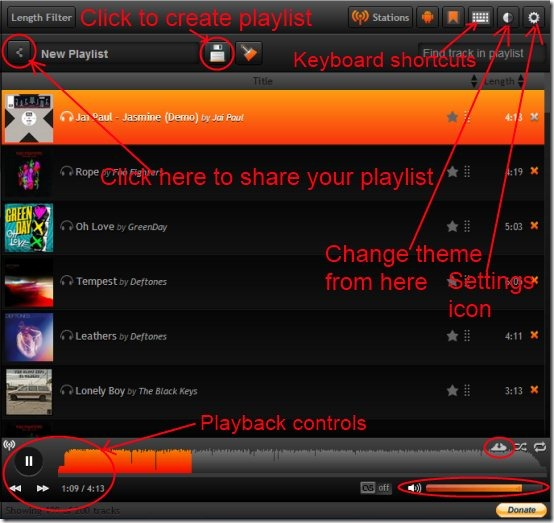 My Cloud Player 04 free online music player