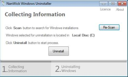 NanWick Windows Uninstaller ready to run
