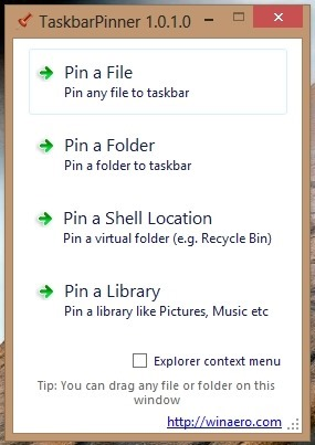 Pin Anything To The Taskbar In Windows 8 With Taskbar Pinner