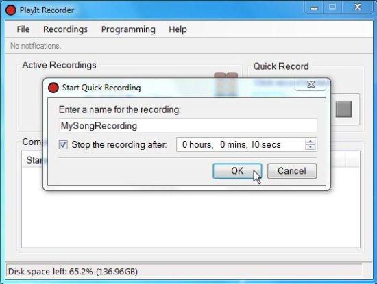 PlayIt Recorder desktop recording