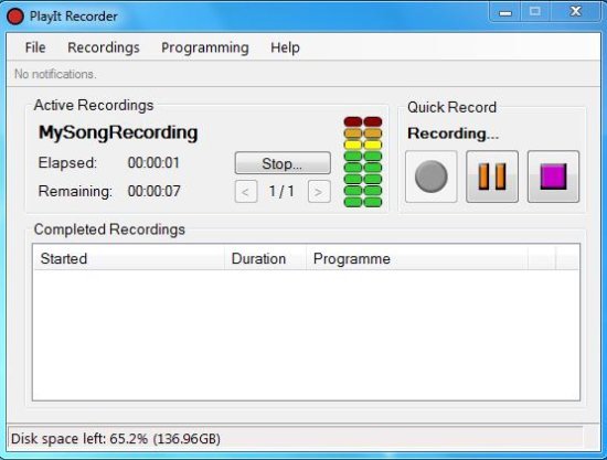 PlayIt Recorder interface