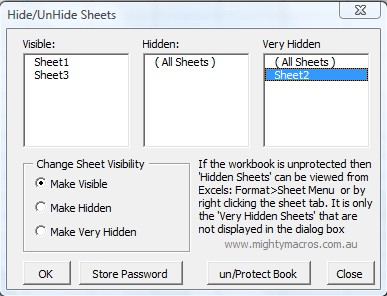 Protect-Sheets default window