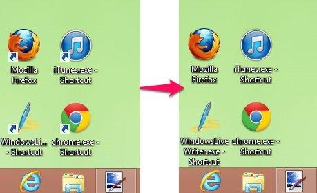 Remove Shortcut Arrow In Windows 8