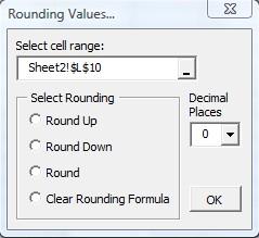 Rounding Add-in default window