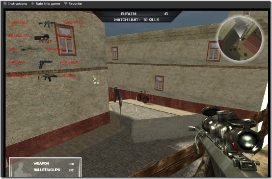 Rush Team 005 online multiplayer shooting game