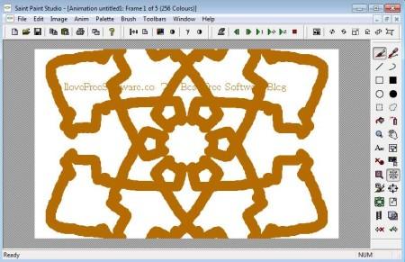 Saint Paint Studio symmetry pattern