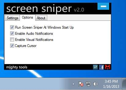 Screen Sniper options