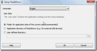 ScreenShotsetup noteitdown