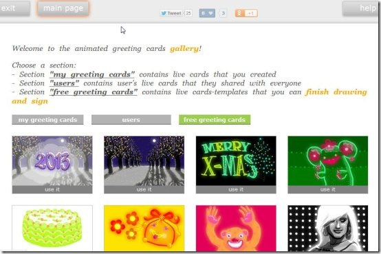 Create animated greeting cards