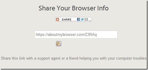 Share Browser Info