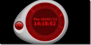 Skinny Clock 001 desktop clock
