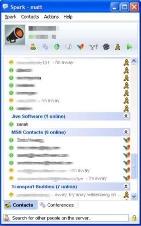 Spark contact list