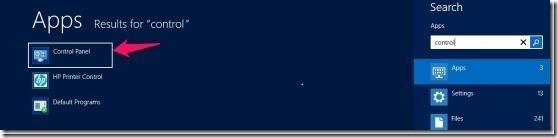 Steps to turn Windows firewall off in Windows 8