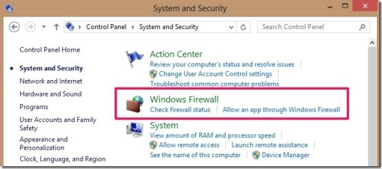 Turn Windows Firewall Off In Windows 8
