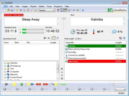 Free Radio Station Automation Software: ZaraStudio
