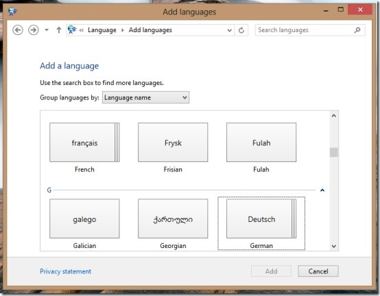 add language pack in windows 8