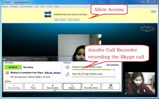 amolto call recorder recording