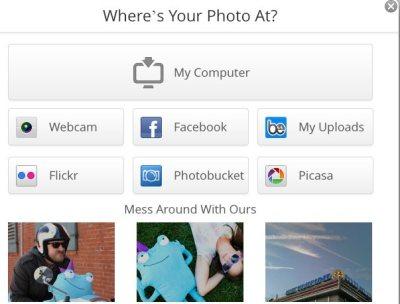 befunky choose photo source