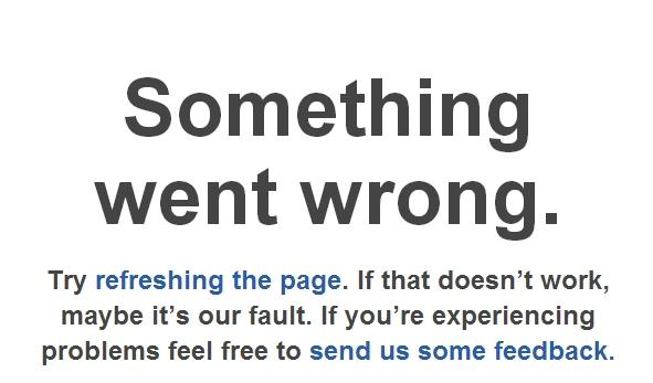 delicious.com error page
