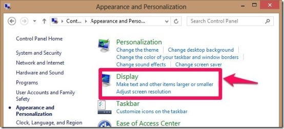 display settings in windows 8