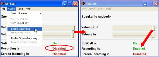 enable recording