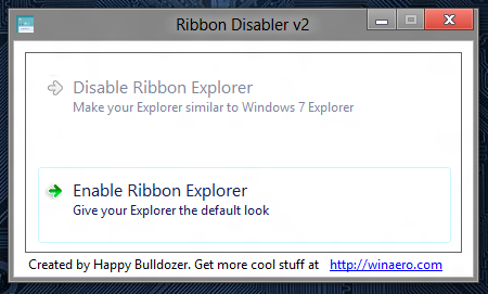 enable ribbons in windows 8
