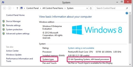 how to see the version of windows 8