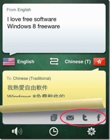 iHandy Translator Share