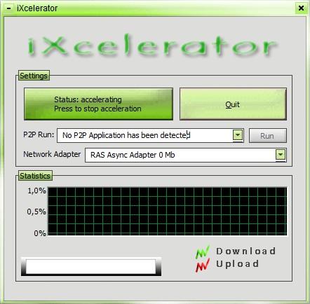 iXcelerator free download accelerator default window