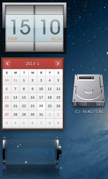 mac theme for windows 8 gadgets