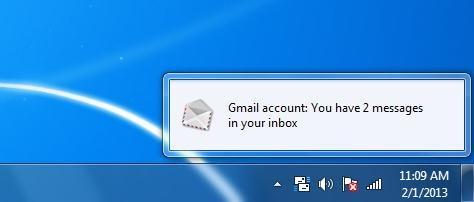 mail notifier interface