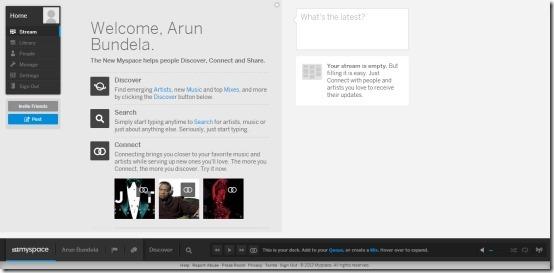 new myspace main page