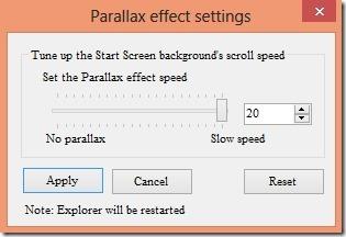 parallax effect windows 8