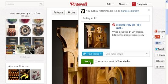 pinterest+ interface