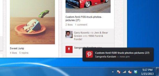 pinterest desktop notification