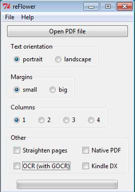 reFlower to transform PDF files default window